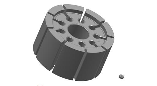 Sinter Metals Teile Größenvergleich